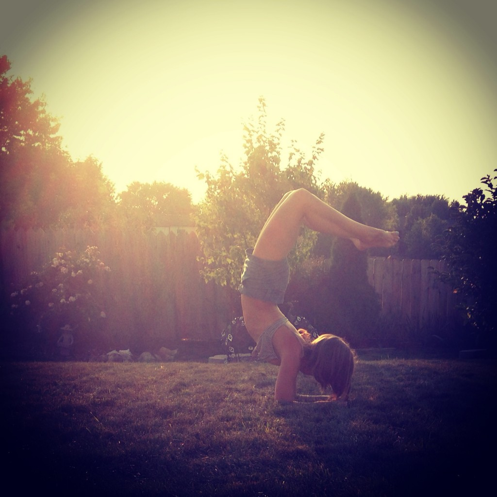 Sunshine on Vrschikasana.