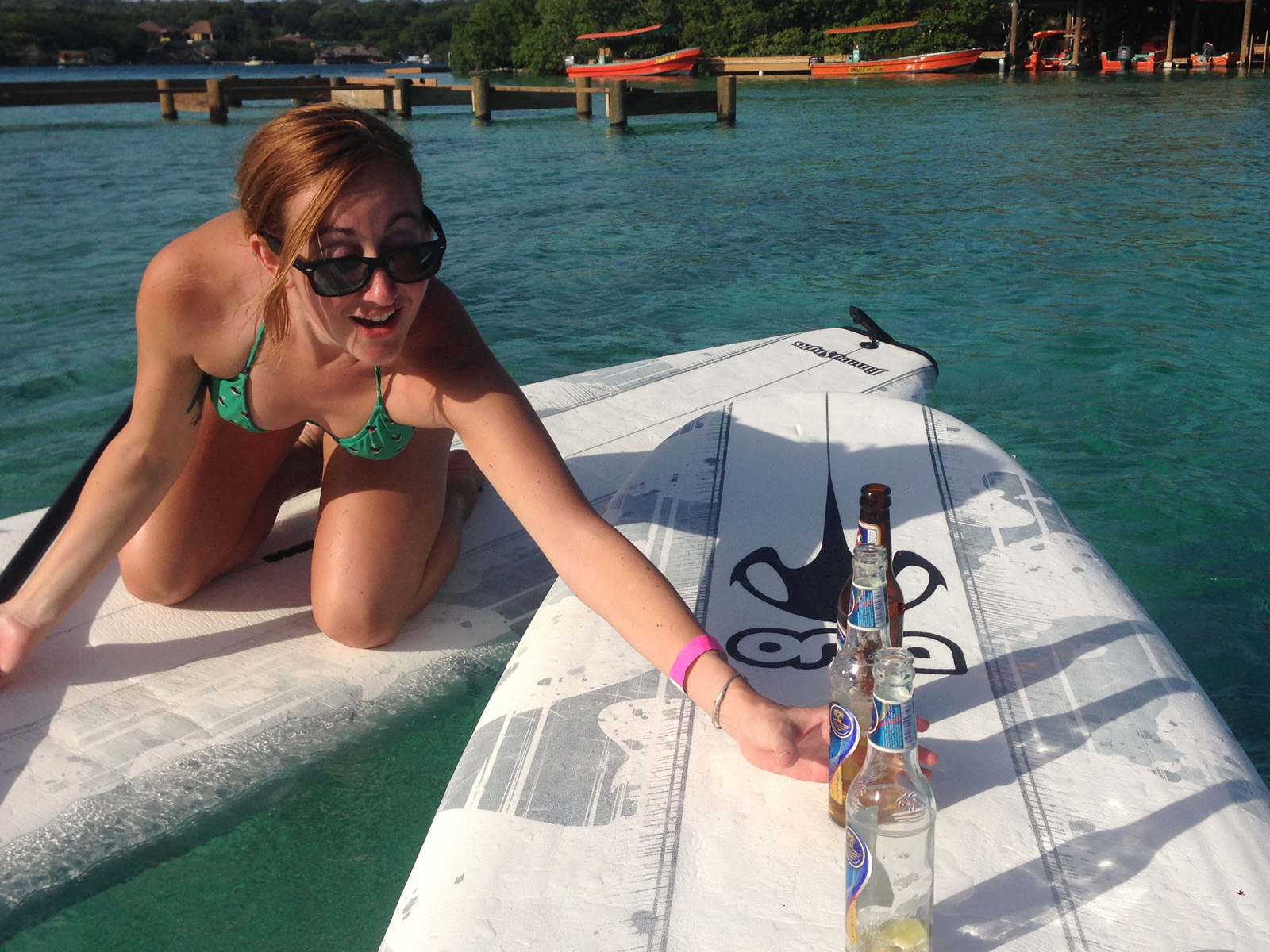 Beer and Paddleboarding Honduras