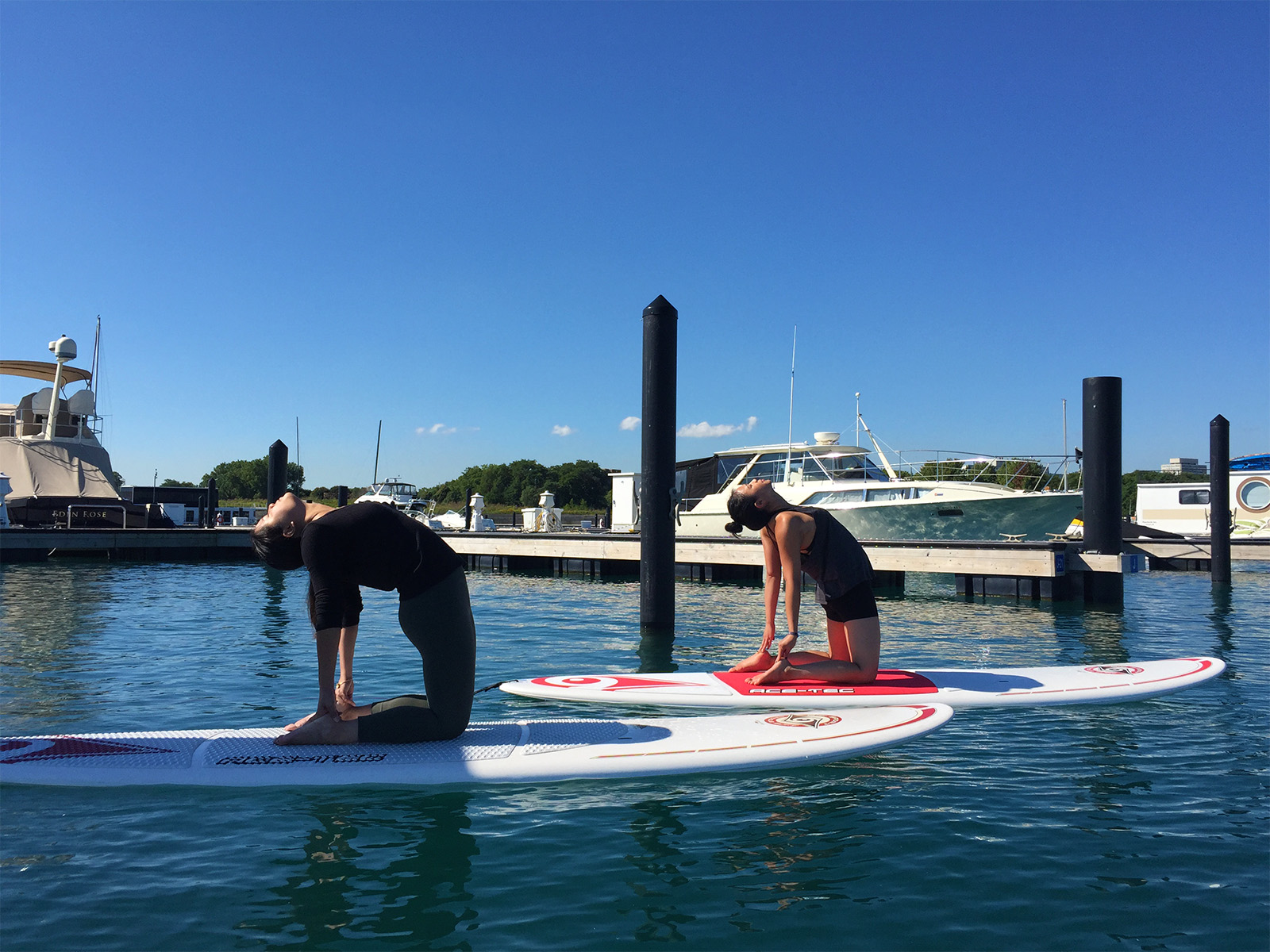 SUP Yoga at 31st St Harbor